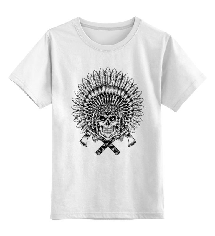 Детская футболка классическая унисекс Printio Индеец сувенир мкт оберег для кошелька ложка загребушка классическая