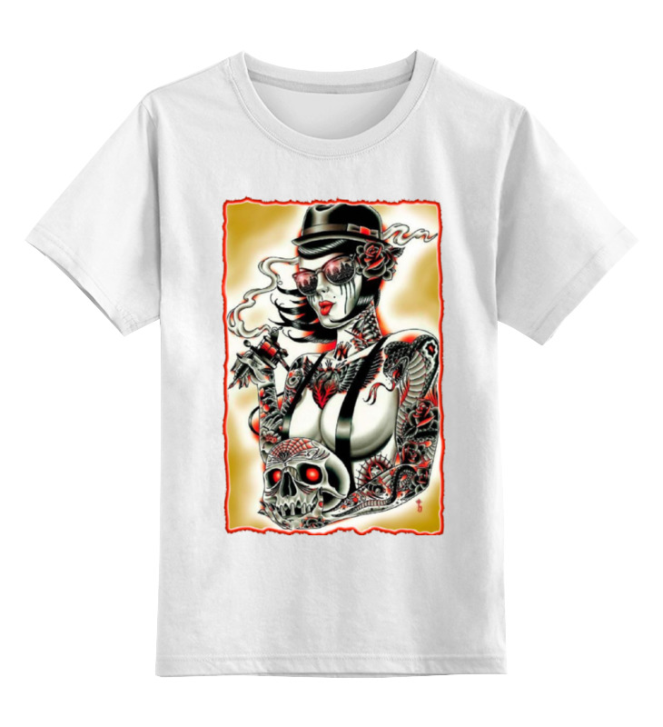 Детская футболка классическая унисекс Printio Tatoo girl футболка стрэйч printio tatoo girl