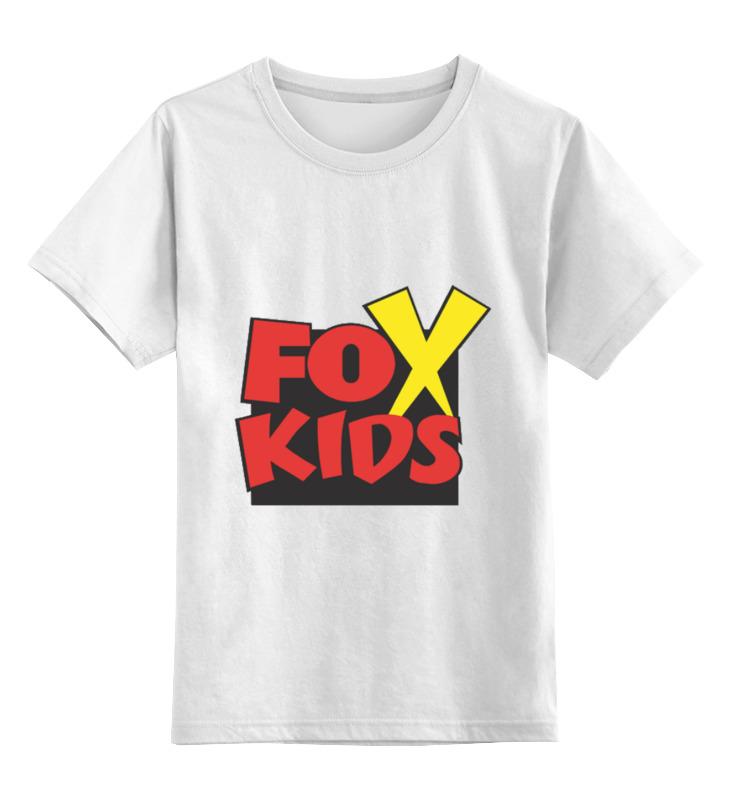 Детская футболка классическая унисекс Printio Fox kids