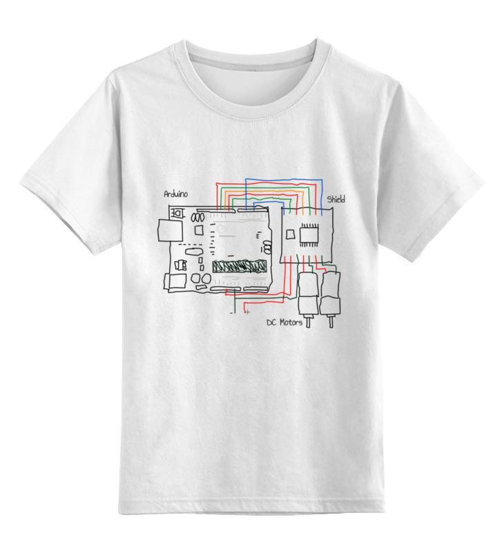 Детская футболка классическая унисекс Printio Подключение моторов к ардуино