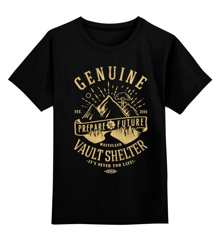 Детская футболка классическая унисекс Printio Fallout. vault shelter футболка классическая printio fallout фэллаут