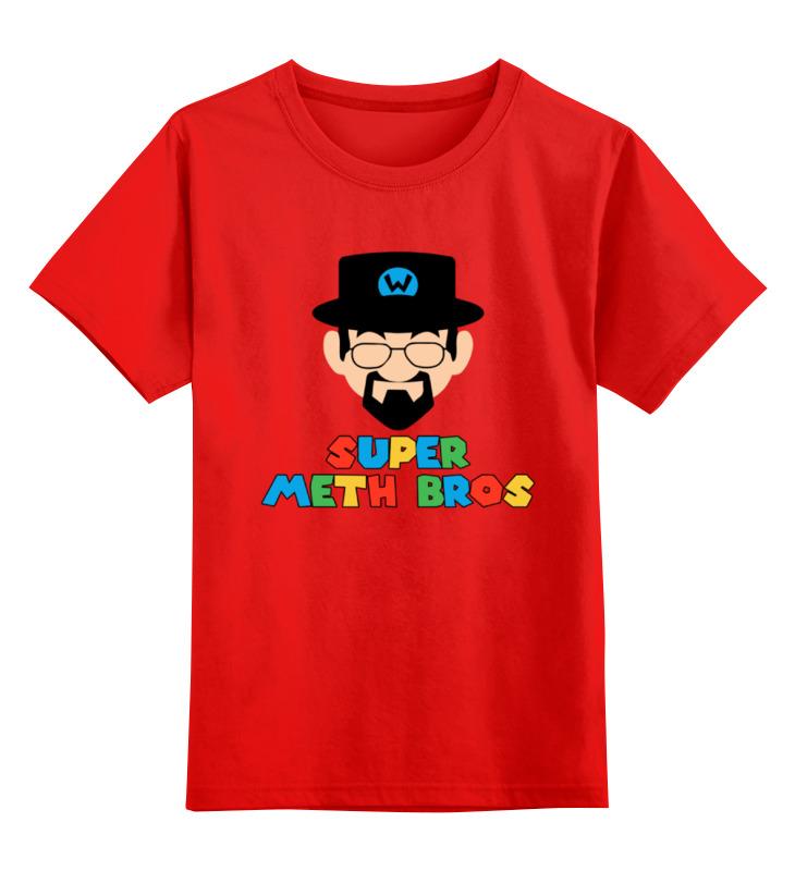 Детская футболка классическая унисекс Printio Хайзенберг (марио) цена и фото