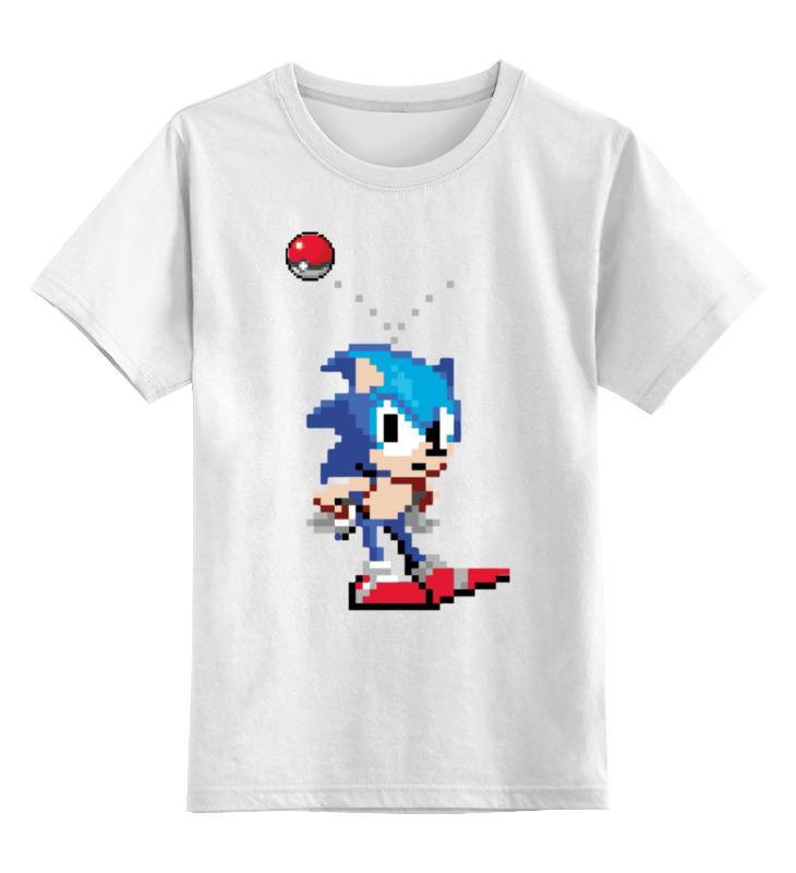 Детская футболка классическая унисекс Printio Соник sega