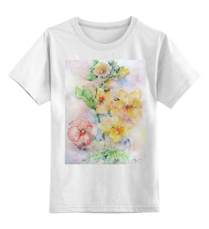 Детская футболка классическая унисекс Printio Мальва. букет футболка классическая printio муравьед с цветами