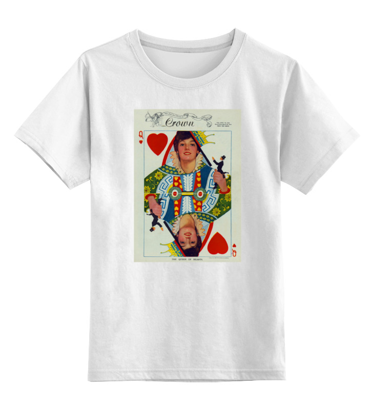 Детская футболка классическая унисекс Printio Королева сердец