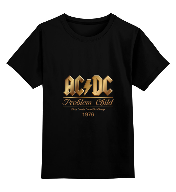 Детская футболка классическая унисекс Printio Ac/dc ac dc dirty deeds done dirt cheap ltd edition 24kt gold lp record