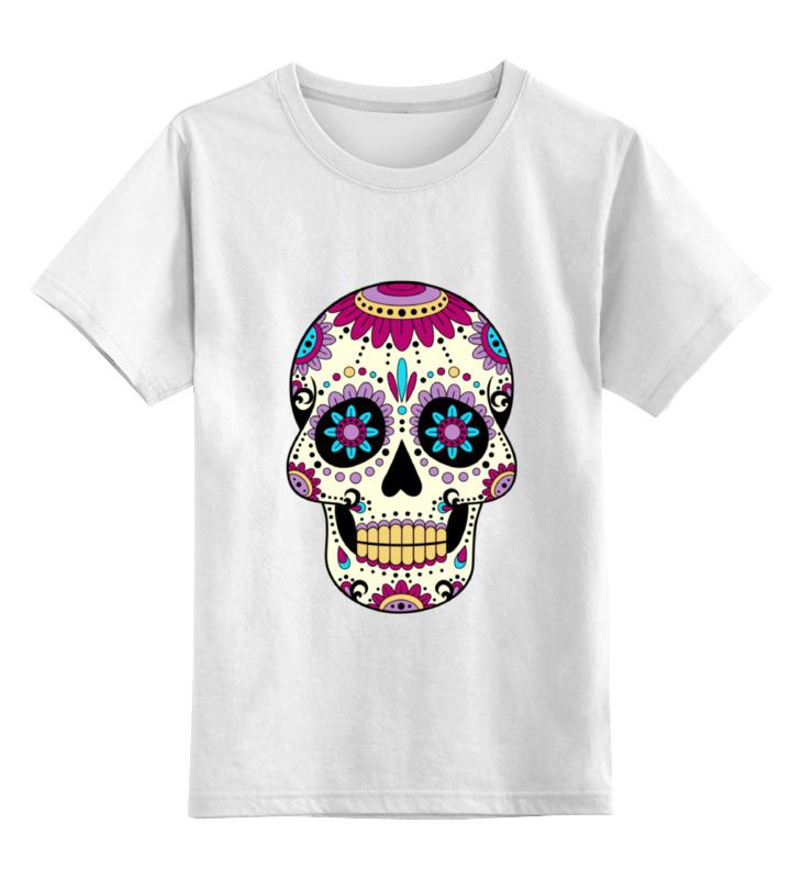 Детская футболка классическая унисекс Printio Мексиканский череп детская футболка классическая унисекс printio череп марио