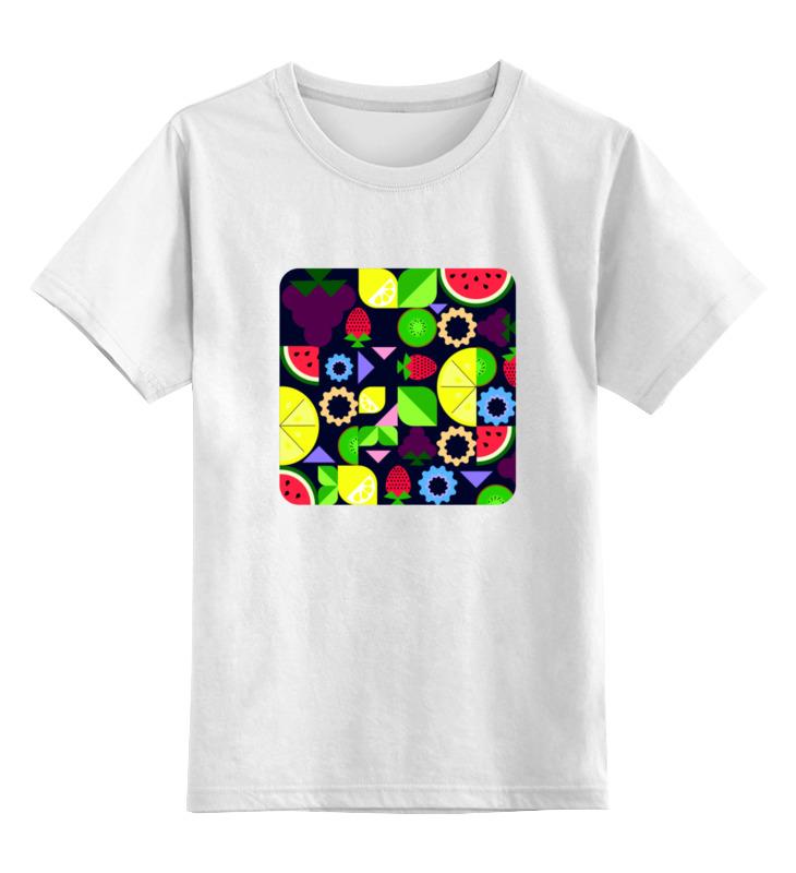 Детская футболка классическая унисекс Printio Виноград и другие фрукты и ягоды футболка wearcraft premium printio виноград и другие фрукты и ягоды