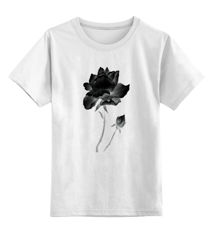 Детская футболка классическая унисекс Printio Черная роза пламенная роза тюдоров