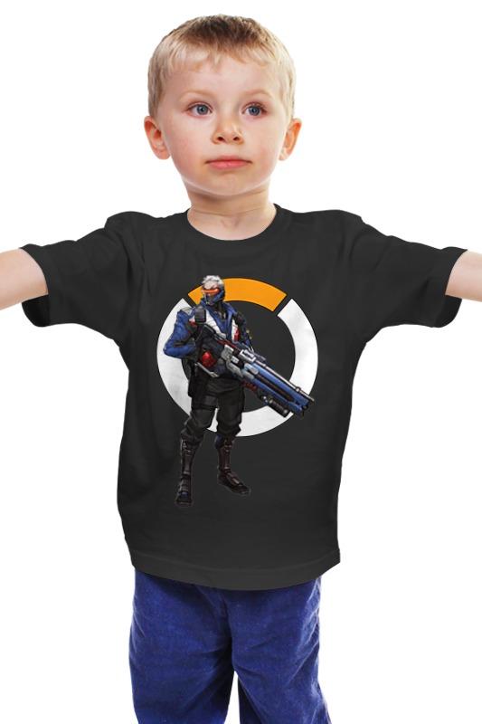 Детская футболка классическая унисекс Printio Overwatch soldier 76 / овервотч солдат 76