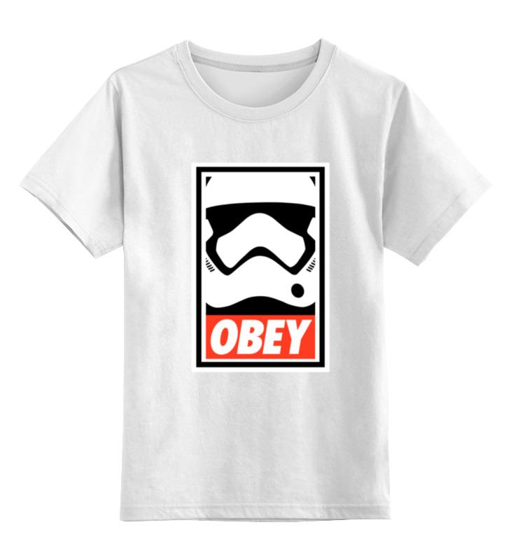 Детская футболка классическая унисекс Printio Obey satrwars детская футболка классическая унисекс printio starbucks obey