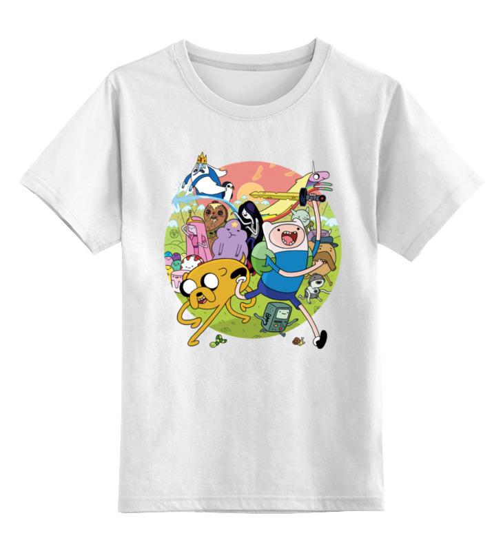 Детская футболка классическая унисекс Printio Adventure time игровая клавиатура a4tech bloody b2278 black red