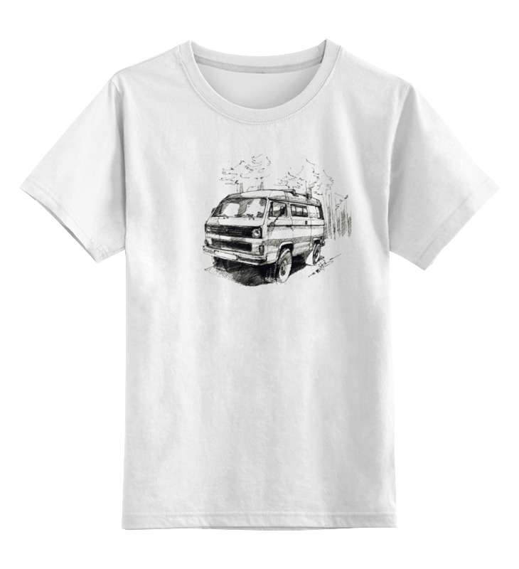 Детская футболка классическая унисекс Printio volkswagen transporter