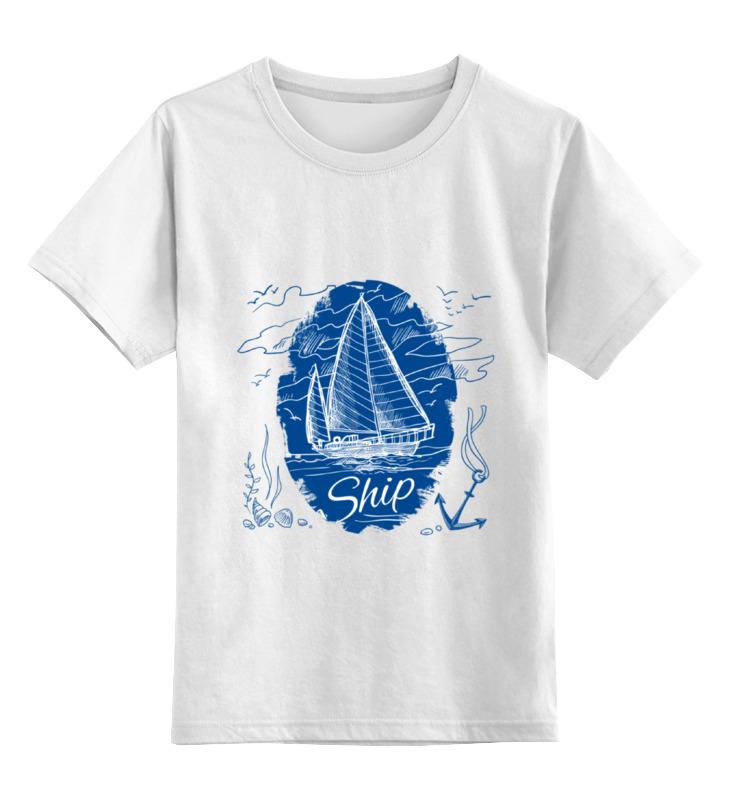 Детская футболка классическая унисекс Printio Морская stigis стигис аппликация сумка детская морская