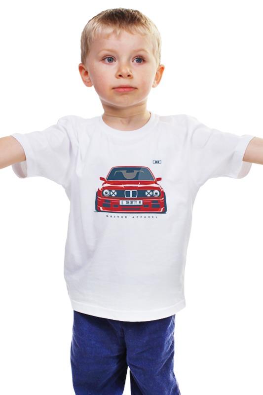 Детская футболка классическая унисекс Printio Bmw e30 m3 bmw 3 серии e30 с 1983 1994 года выпуска