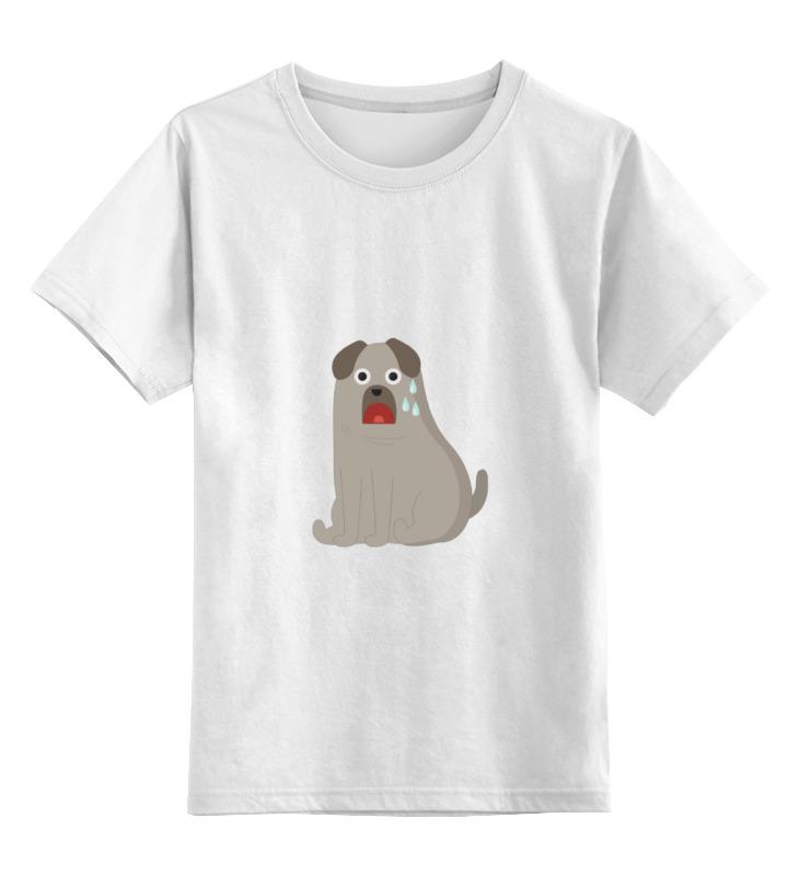 Детская футболка классическая унисекс Printio Грустный пёс детская футболка классическая унисекс printio умный пёс