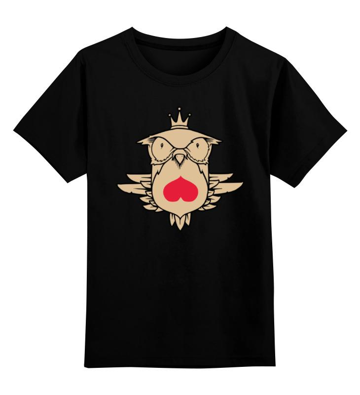 Детская футболка классическая унисекс Printio Owl heart / сова  сердце