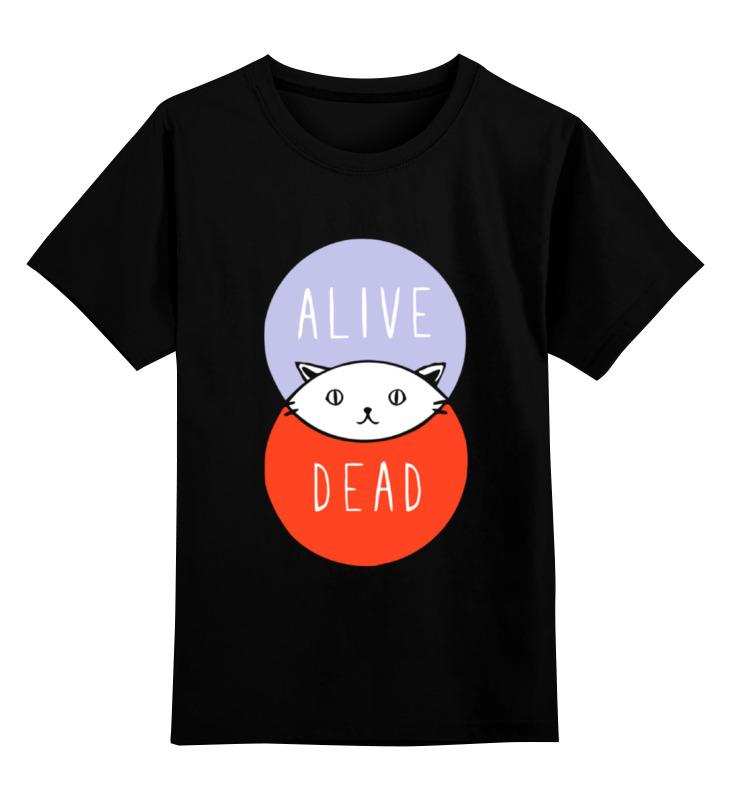 Детская футболка классическая унисекс Printio Кот шрёдингера (живой, мертвый) детская футболка классическая унисекс printio кот шрёдингера
