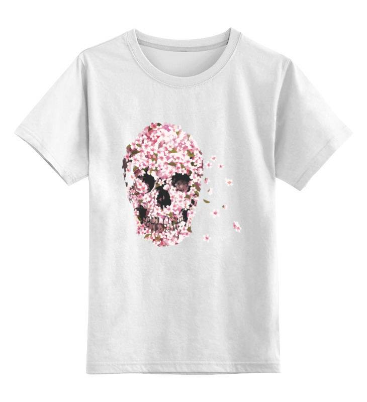 Детская футболка классическая унисекс Printio Цветочный череп детская футболка классическая унисекс printio череп цветочный