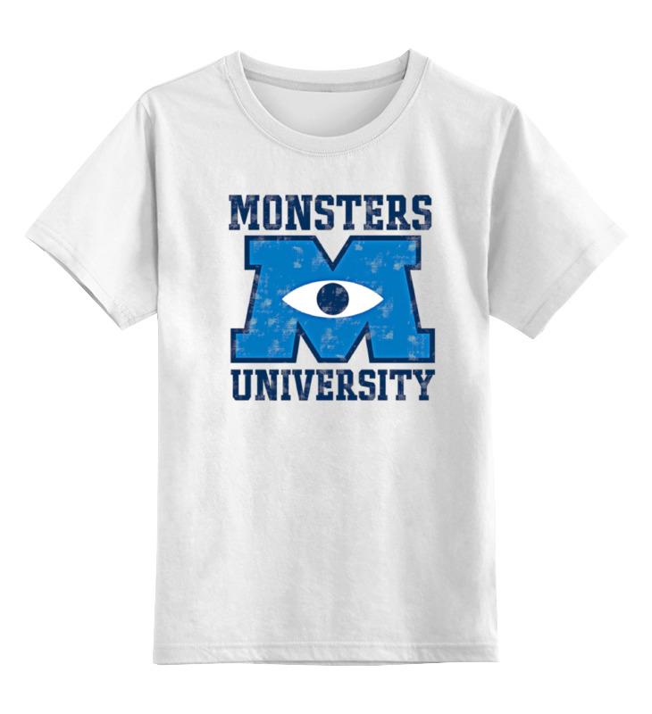 Детская футболка классическая унисекс Printio Monsters university