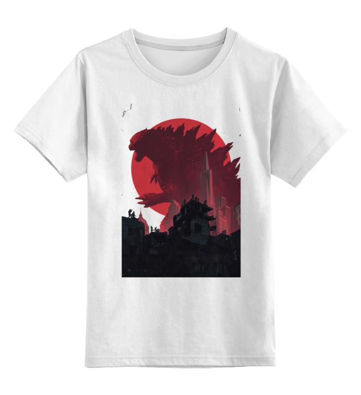 Детская футболка классическая унисекс Printio Godzilla white детская футболка классическая унисекс printio white chaos