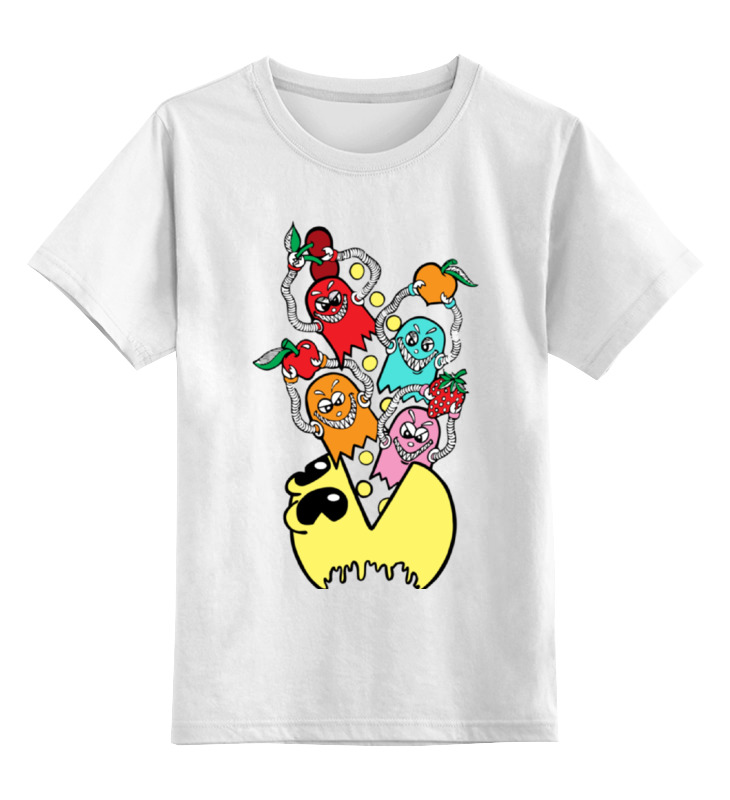 Детская футболка классическая унисекс Printio Пакман игра для xbox пакман в мире привидений