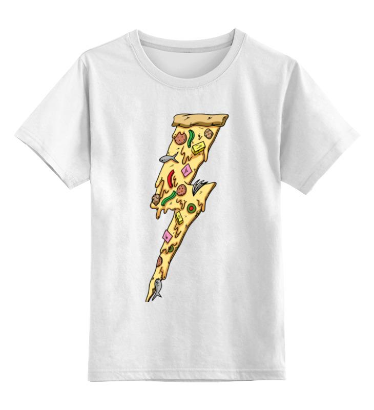 Детская футболка классическая унисекс Printio Пицца молния цена и фото