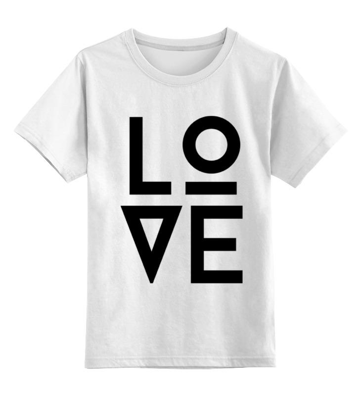 Детская футболка классическая унисекс Printio Любовь (love) детская футболка классическая унисекс printio love for orlando