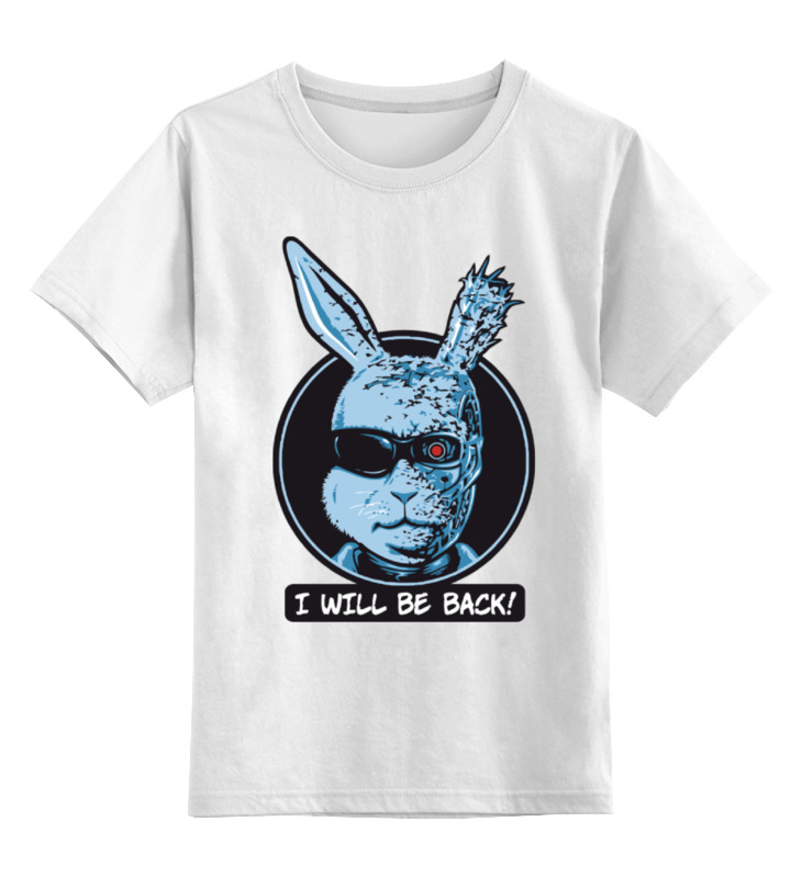 Детская футболка классическая унисекс Printio Зайчик терминатор
