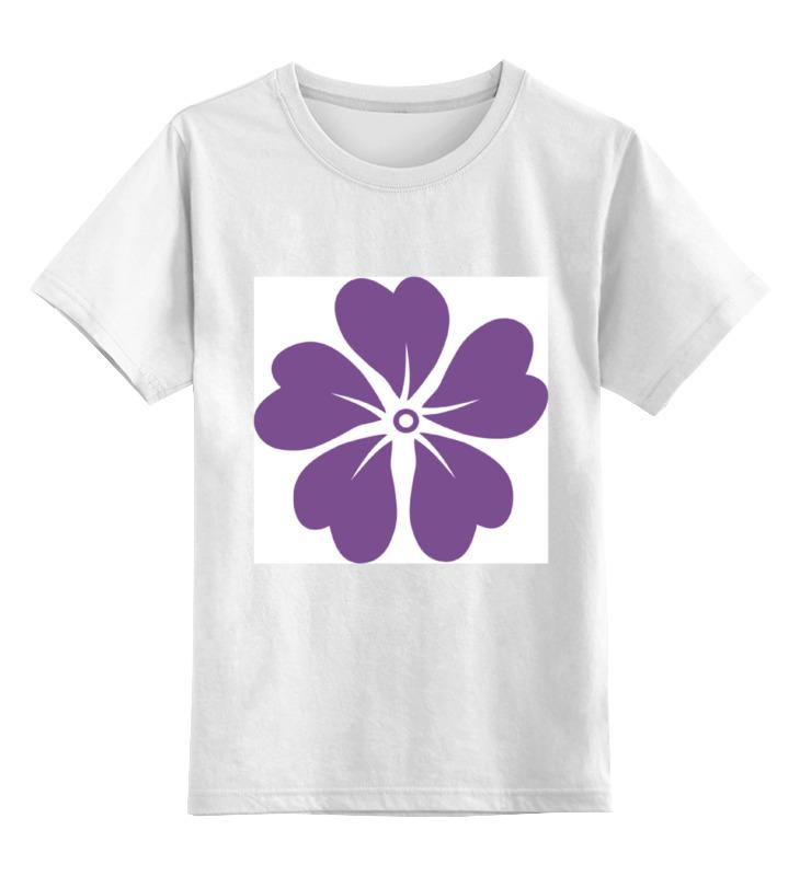 Детская футболка классическая унисекс Printio Фиолетовая лилия