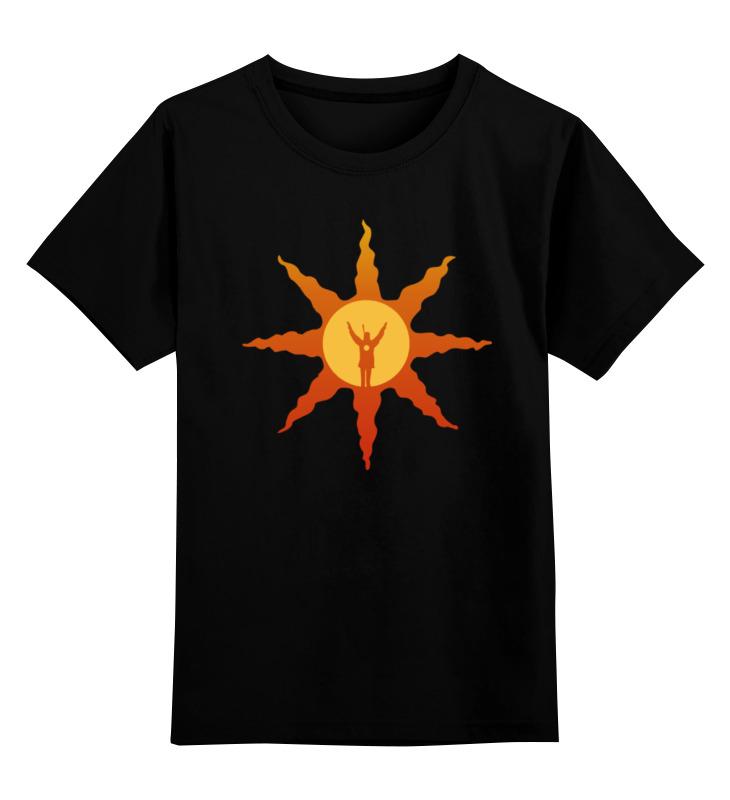 Детская футболка классическая унисекс Printio Dark souls sun thought catalog souls