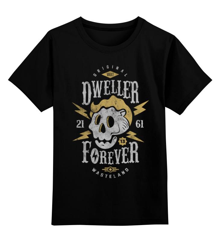 Детская футболка классическая унисекс Printio Fallout. dweller forever