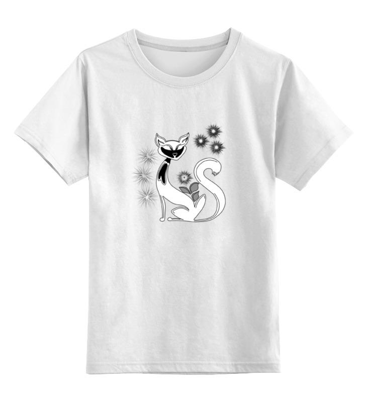 Детская футболка классическая унисекс Printio Кошка футболка белая кошка мелисса lisa