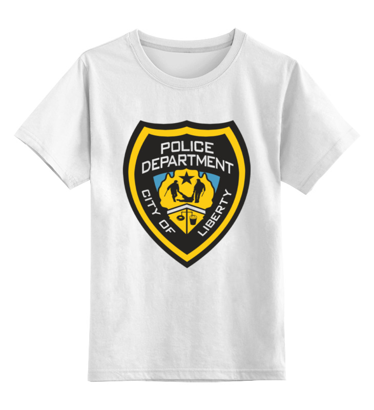 Детская футболка классическая унисекс Printio Police department