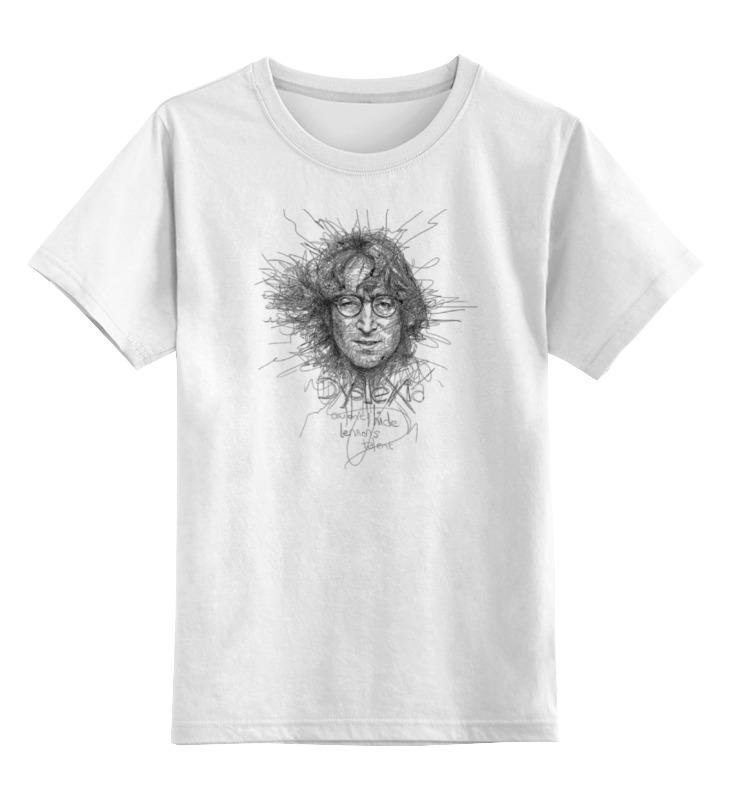 Детская футболка классическая унисекс Printio John lennon лонгслив printio john lennon