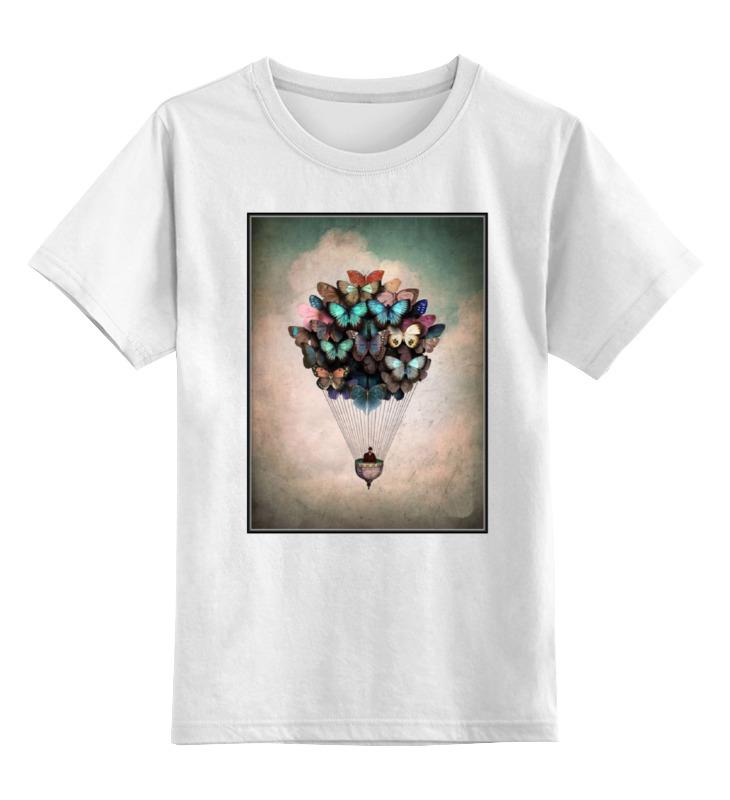 Детская футболка классическая унисекс Printio Воздушный шар/бабочки