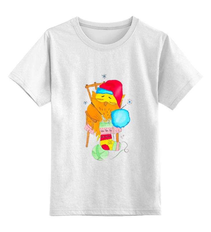 Детская футболка классическая унисекс Printio Сова в колпаке детская футболка классическая унисекс printio зимние забавы