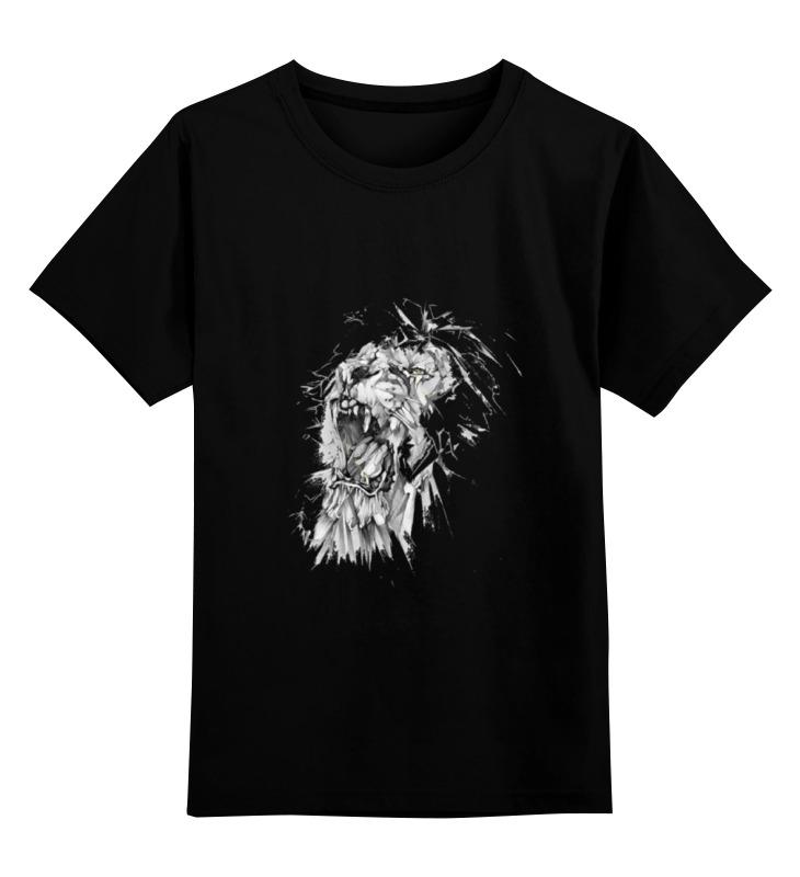 Детская футболка классическая унисекс Printio Growl lion худи print bar skull lion