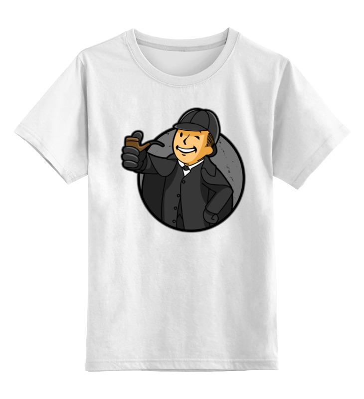 Детская футболка классическая унисекс Printio Шерлок (фэллаут) цена и фото