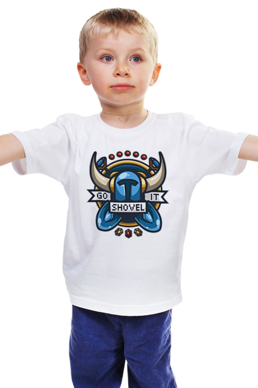 Детская футболка классическая унисекс Printio Рыцарь лопаты