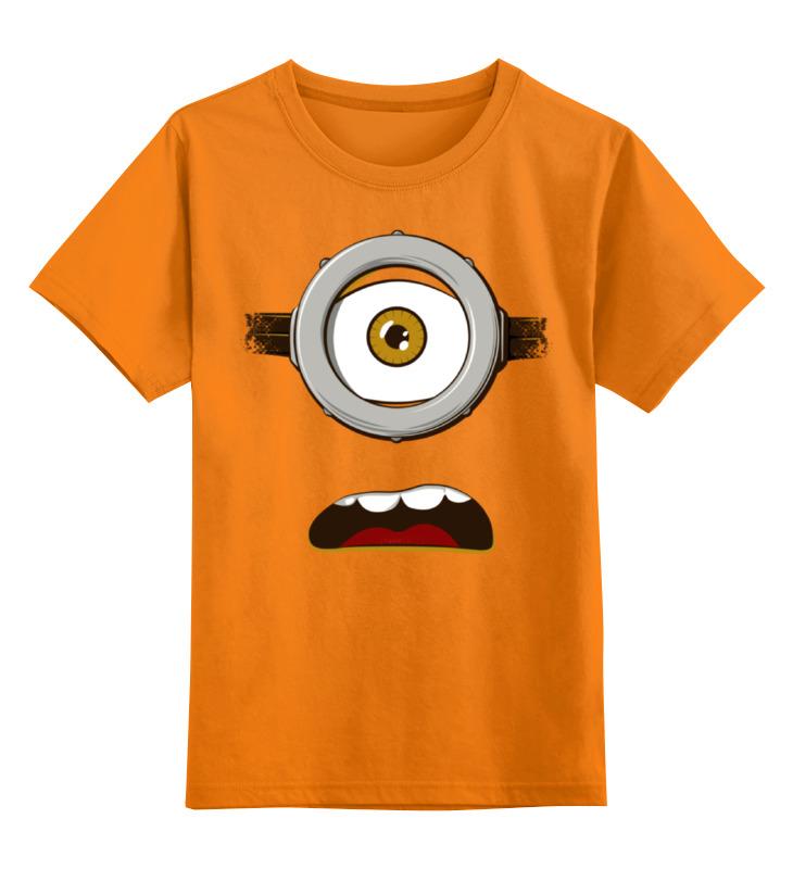 Детская футболка классическая унисекс Printio Глаз миньона серая футболка для мальчика миньона 38