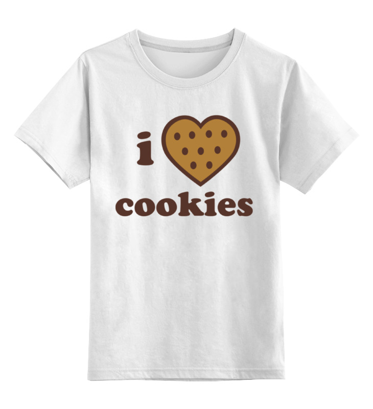 Детская футболка классическая унисекс Printio I love cookies