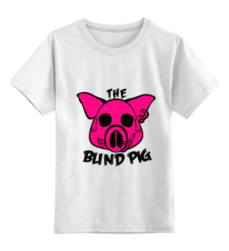 Детская футболка классическая унисекс Printio The blind pig #2 футболка pig basic slimfit brown