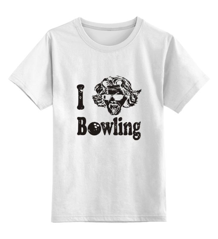 Детская футболка классическая унисекс Printio Люблю боулинг цена и фото