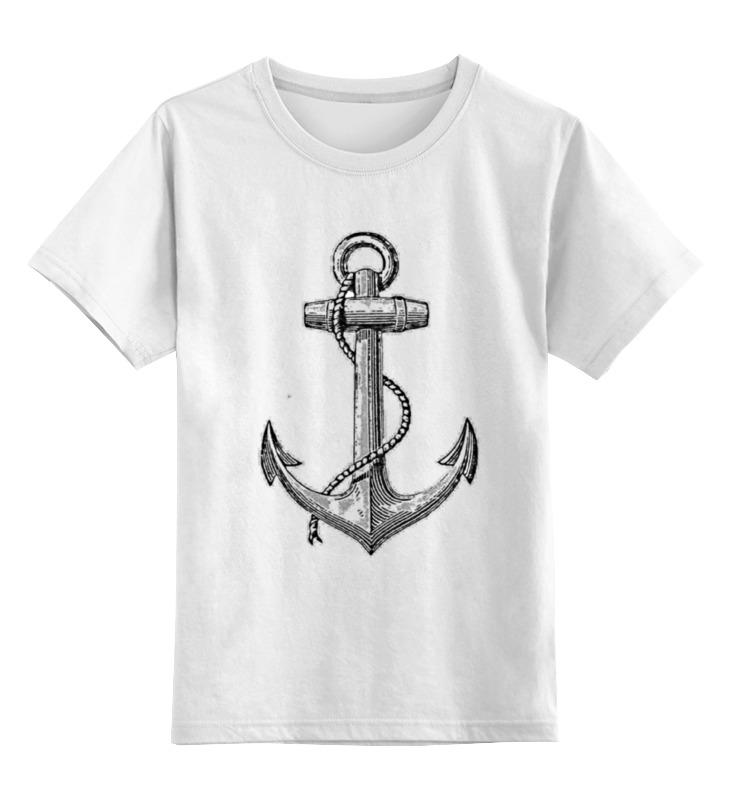 Детская футболка классическая унисекс Printio Держись сильнее за якорь цена и фото