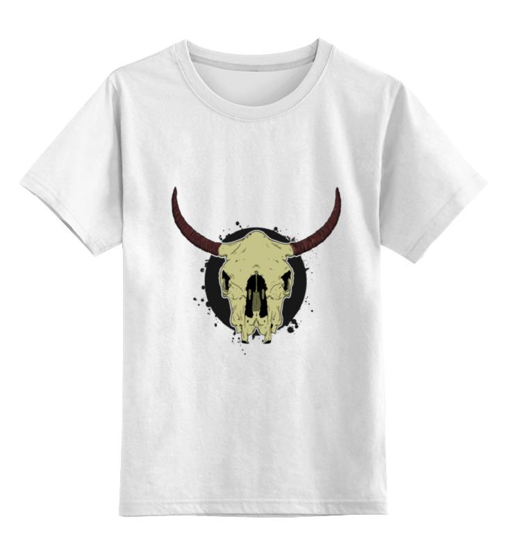 Детская футболка классическая унисекс Printio Skull bull цена