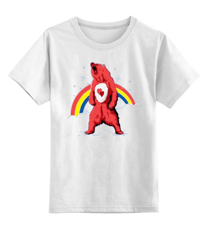 Детская футболка классическая унисекс Printio Влюблённый медведь