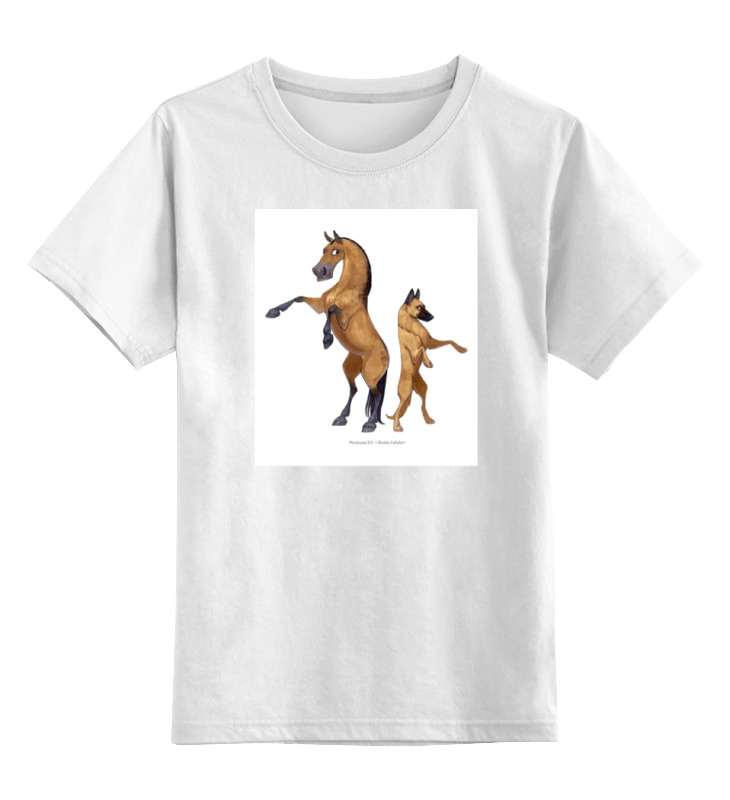 Детская футболка классическая унисекс Printio Буланый пони/малинуа цена и фото