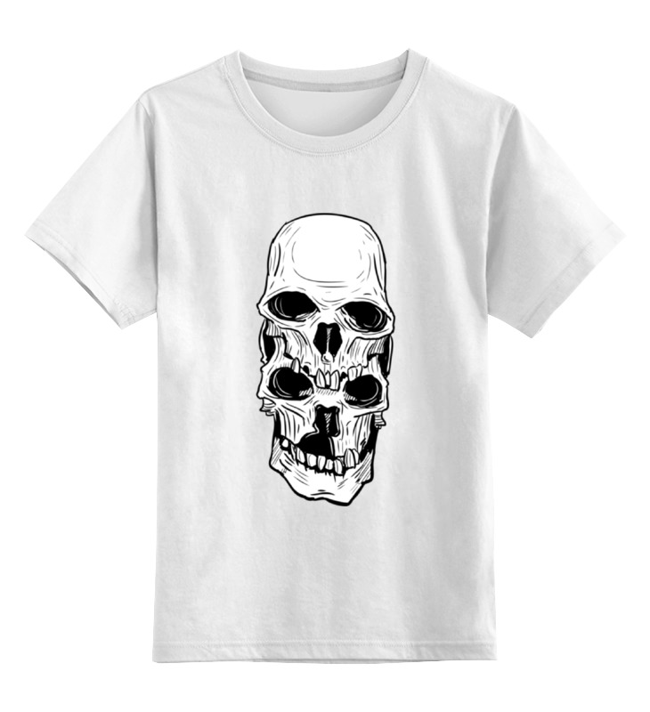 Детская футболка классическая унисекс Printio Skull