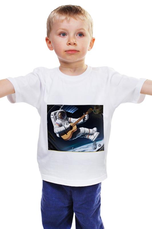 Детская футболка классическая унисекс Printio Русский космонавт